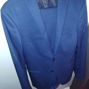 Blue Zara suit